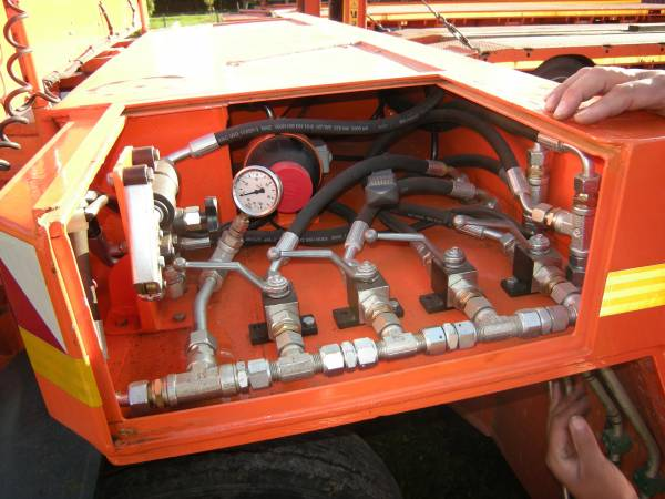 Impianto idraulico manuale ruote sterzanti pianale fuori sagoma